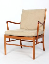 Ole Wanscher. Easy chair, 'Colonial Chair', model PJ149, cherry wood