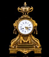 Table clock, gilt bronze, France, 19th century-later part