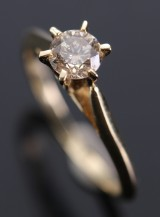 Solitaire ring ca. 0.48 ct.