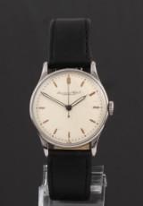 Vintage International Watch Co. men's watch, steel, pale dial, c. 1945