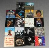 Samling vinyl-skivor, Julian Lennon, John Lennon samt Paul McCartney (18)