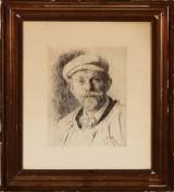 P. S. Krøyer. Selvportræt, radering
