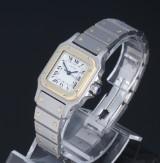 Cartier 'Santos Automatic'. Dameur af 18 kt. guld og stål