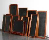 10 spejle af teak, 1950-1960, danske møbelproducenter (10)