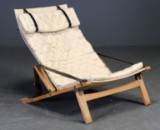 Preben Fabricius and Jørgen Kastholm. Folding lounge chair, model P.B. 10
