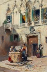 Frans Wilhelm Odelmark, 'Venedig', oil on canvas