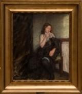 Julius Paulsen. Model study, oil on canvas
