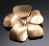 Ole Lynggaard, a large flower clasp / brooch