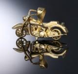 Stort vedhæng af 14 kt. guld udført som motorcykel