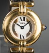 Cartier Vermeil - ladies' wristwatch in sterling silver, gilded