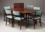 Dansk møbelproducent, spisebord samt stole (7+2)