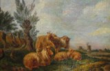 Kunstner fra 1700-tallet, oliemaleri, 'Schafherde'