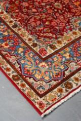 Persisk Yazd tæppe på bomuld.Str. 289 x 200 cm.