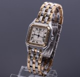 Cartier Panthere. Unisex watch, 18 kt. gold and steel, date