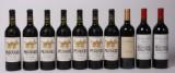 Samling rødvin, 10 flasker (10)