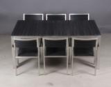 Havemøbelsæt, bord samt 6 stole (7)