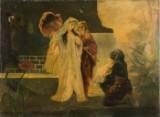 Gemälde, Die Rettung des Moses. Öldruck