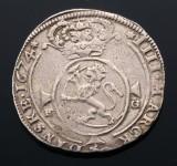 Norge, Christian V, krone 1674 FG, H. 41 A - Sjælden