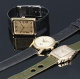 Longines, Roamer og Barrett. Tre unisex ure i forgyldt stål (3)