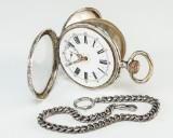 Spiral Breguet lommeur af sølv
