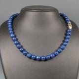Lapis Lazuli Kette mit vergoldeter Silberschließe