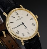 Vacheron Constantin. Men's watch, 18 kt. gold, with original strap and clasp, 1990s