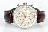 Breitling Chronometer Navitimer World herrearmbåndsur af stål, ref. A24322. 2009