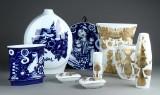 Bjørn Wiinblad for Rosenthal 'Studio-Line'. Collection of porcelain vases etc. (9)
