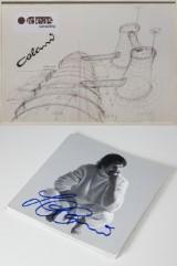 Luigi Colani Entwurfszeichnung & handsigniertes Buch (2)