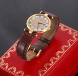 Cartier Vermeil. Dameur i forgyldt sterlingsølv med certifikat og etui, 1989