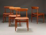 Henning Kjærnulf. Spisestole, teaktræ (4)