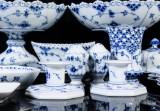 Service, pieces, Royal Copenhagen Blue Fluted Pattern, Full Lace / Half Lace (23)