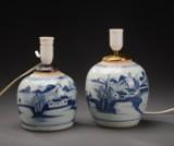 To kinesiske bojaner af porcelæn, 1700-tallet (2)