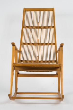 Schaukelstuhl holz und bambus 50er jahre for Bambus schaukelstuhl