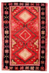 Handknuten persisk matta, Bakthiar, 196x130 cm