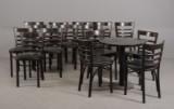 15 caféstole samt rundt bord (16)