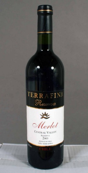 Terrafina chilensk rødvin, Reserva Merlot, 102 fl. | Lauritz.com