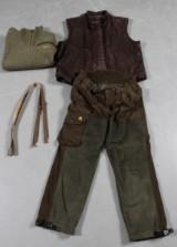 Jagttøj: Deerhunter jagt bukser, Härkila skindvest samt uldsweater, str. 56/ XL. (3)