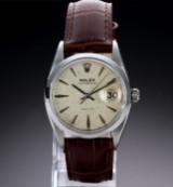 Rolex 'Oysterdate Precision'. Vintage herreur i stål med lys skive og dato, ca.1958