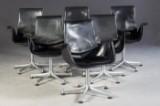 J. Kastholm & P. Fabricius, set of chairs, model Tulip FK 6726 for Kill International (6)