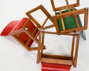 vara 4293163 3 kinderst hle holz rot und gr n 3. Black Bedroom Furniture Sets. Home Design Ideas