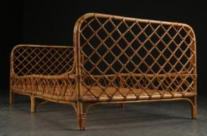 bambus seng Seng / daybed af bambus, 1940'erne Denne vare er sat til omsalg  bambus seng
