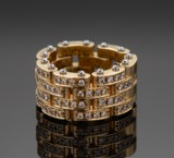 Dimension ring, 18 kt. gold, brilliant-cut diamonds