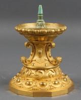 Fransk lysestage af lueforgyldt bronze