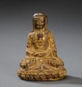 Orientalsk figur af forgyldt bronze, 1800/1900-tallet