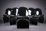 Verner Panton. A set of six cantilever chairs, 'Panton Chair'. (6)