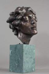 Michel Larianov, skulptur/figur, Medusa, bronze