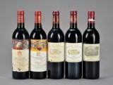 5 fl. Premier Grand Cru Classè fra Bordeaux.