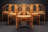 Hans J. Wegner. Six chairs, China Chair, model PP66 (6)