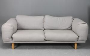 Muuto Hamburg muuto rest three seater sofa grey hallingdal wool from kvadrat